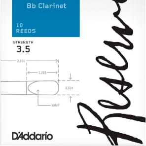 Rico DCR1035 Reserve Bb Clarinet Reeds - Strength 3.5 (10-Pack)