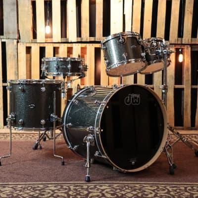 DW Performance Maple Pewter Sparkle Drum Set - 22,10,12,16,5.5x14