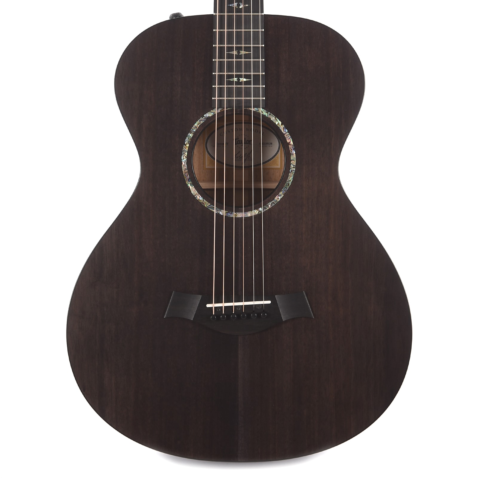 Taylor Custom TF Grand Concert Blackwood Charcoal Black ES2 Scratch and  Dent (Serial #1102159138)