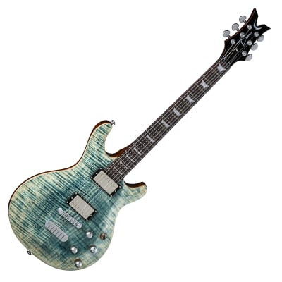 Dean Icon FM FD Mahogany Flame Maple Arch Top DMT Faded Denim for sale