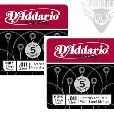 D'Addario Plain Steel Singles 10-Pack of .011 Gauge Single Strings image