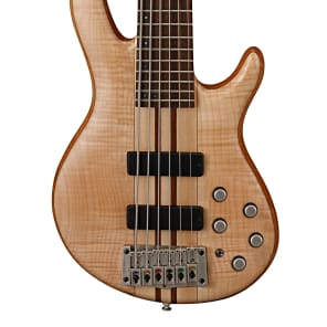 Cort A6 Plus FMMH OPN Artisan Series Figured Maple/Mahogany 6-String Bass Open Pore Natural