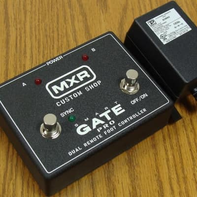 NEW MXR M235FC Smart Gate Pro Noise Gate PEDAL & POWER ADAPTER Footcontroller
