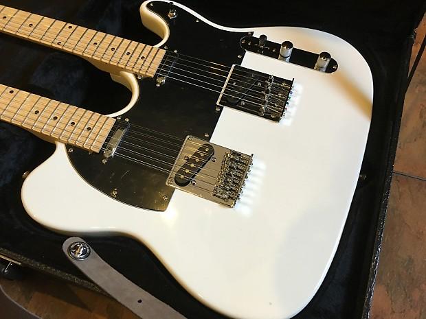 cozart double neck telecaster electric guitar 6 string 12 reverb. Black Bedroom Furniture Sets. Home Design Ideas