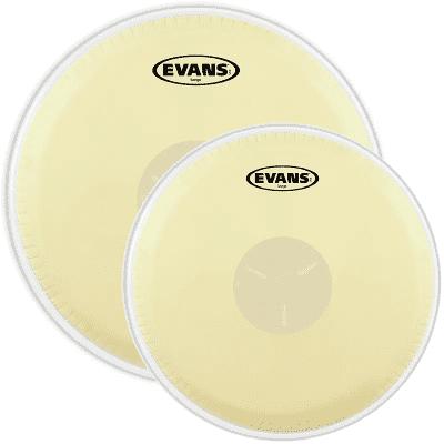 """Evans  EB0709 Tri-Center Bongo (7.25/8.625"""") Drum Head Pack"""