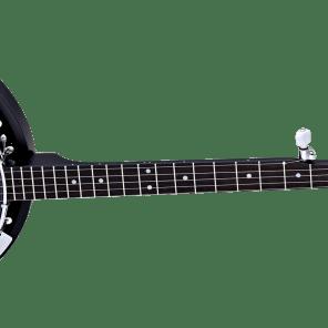 Ortega 5 String Banjo Closed Mahogany Back OBJ 250 SBK 2017 Black for sale