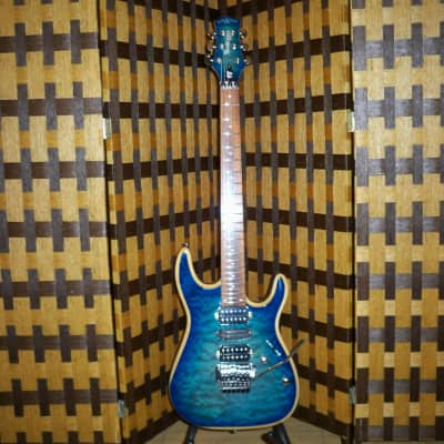 Bootlegger Guitar 'ROYAL (The Steve Stine)' Clear Blue Flame Outfit 2019