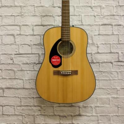Fender CD-60S Solid Top Dreadnought Acoustic Guitar, Left Handed - Natural