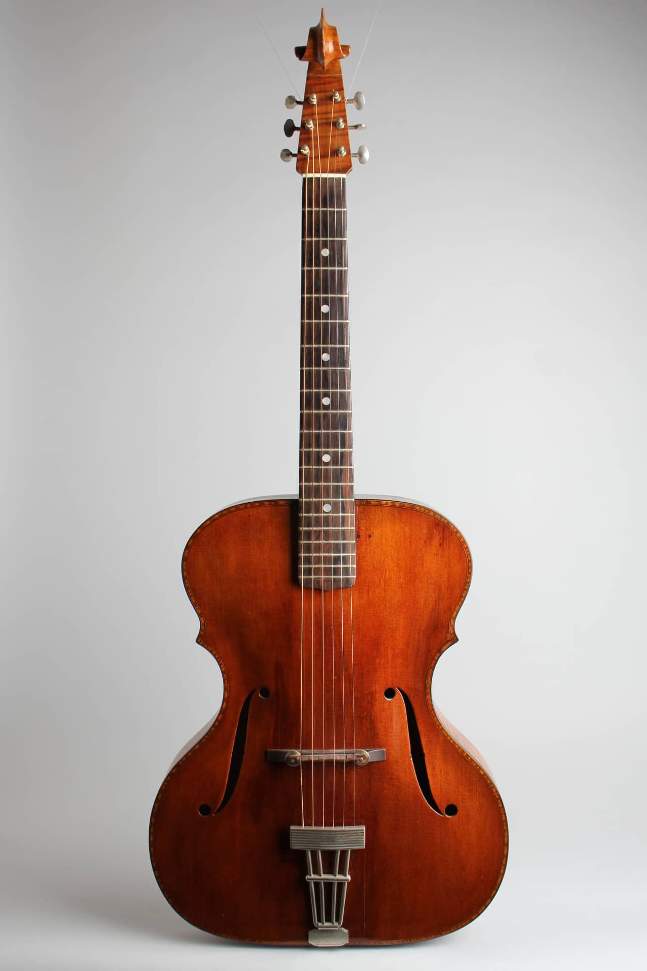 wilkanowski arch top acoustic guitar 1937 gig bag case. Black Bedroom Furniture Sets. Home Design Ideas