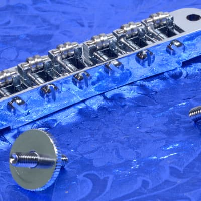 Chrome Adjusto-Matic Tun-O-Matic Type Bridge With Roller Saddles Wow!