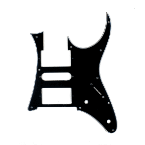 Custom Guitar Pick Guard for Ibanez RG 750, RG 550 ,3ply Black