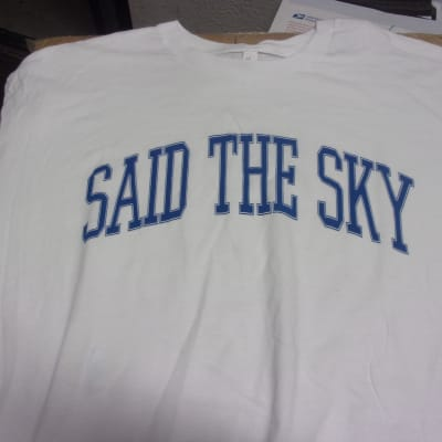 RARE Said the Sky Concert T Shirt Men XL new old stock band tee factory second blue faint smudge