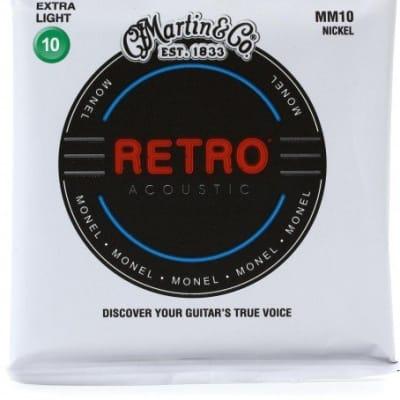 Martin MM10 Retro Extra Light Acoustic Guitar Strings. 10-47
