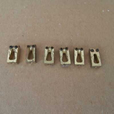 Set of Six Brass Guitar Bridge Saddles!
