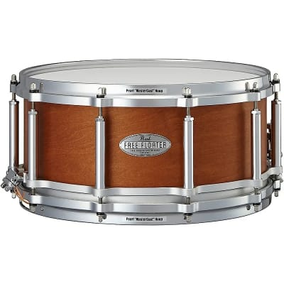 """Pearl FTMMH1465 Free-Floating 14x6.5"""" Maple/Mahogany Snare Drum"""