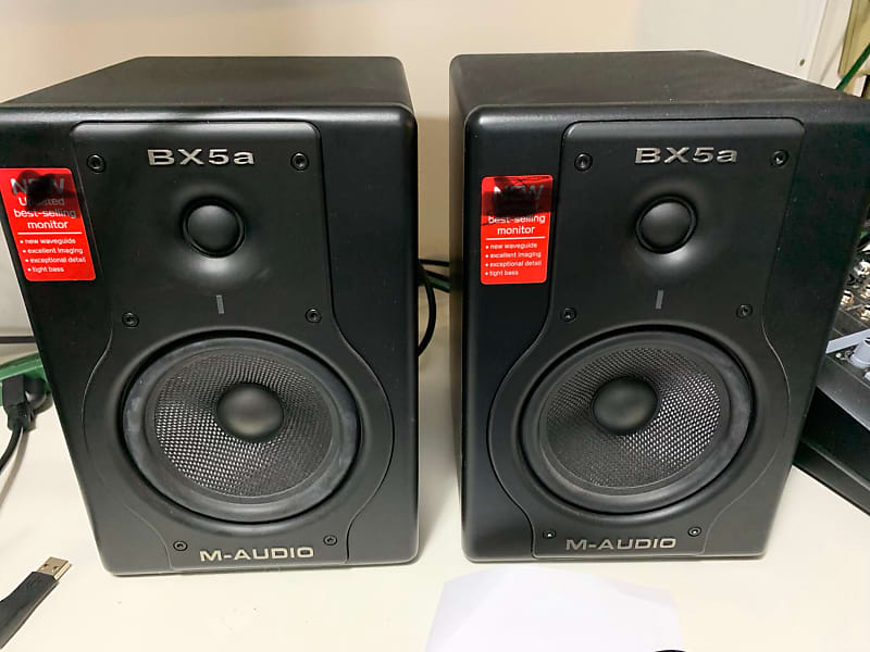 m audio bx5a monitors black pair wheezy stu reverb. Black Bedroom Furniture Sets. Home Design Ideas