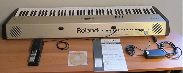 roland fp 5 digital stage piano hammer action 88 key midi reverb. Black Bedroom Furniture Sets. Home Design Ideas
