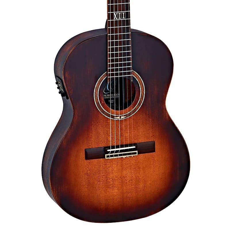 Ortega Private Room Cedar Top Nylon String Acoustic Guitar Distressed DSSUITE-E