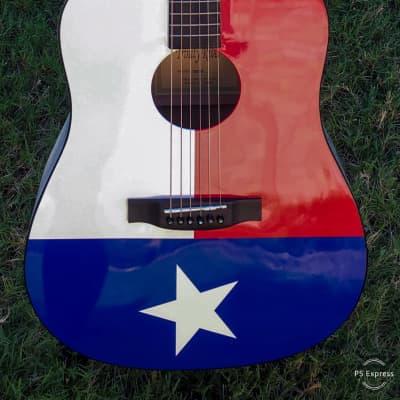 Trinity River, Texas Flag Dreadnought Guitar! Loud & Proud! for sale