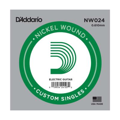 D'Addario NW024 Nickel Wound Single Guitar String .024