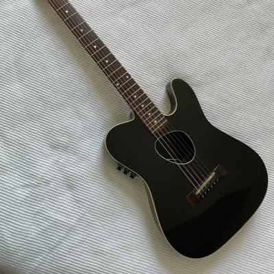 1987 Kramer Ferrington KFT-2 Acoustic-Electric Thin-Body Guitar Black for sale