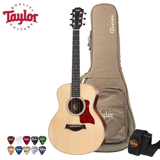 Taylor Guitars Limited Edition GS Mini Rosewood Acoustic Guitar w Gig Bag,  Picks, Strap