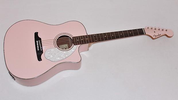 fender sonoran sce acoustic electric guitar shell pink reverb. Black Bedroom Furniture Sets. Home Design Ideas