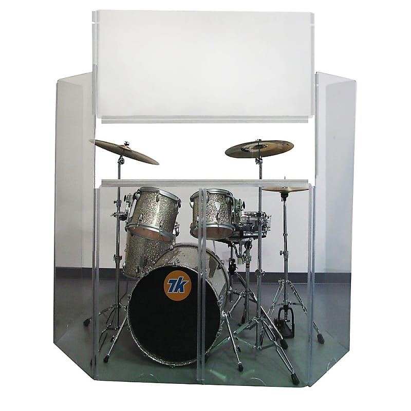 Musician's Gear Acrylic Drum Shield with Removable Front Panel Regular