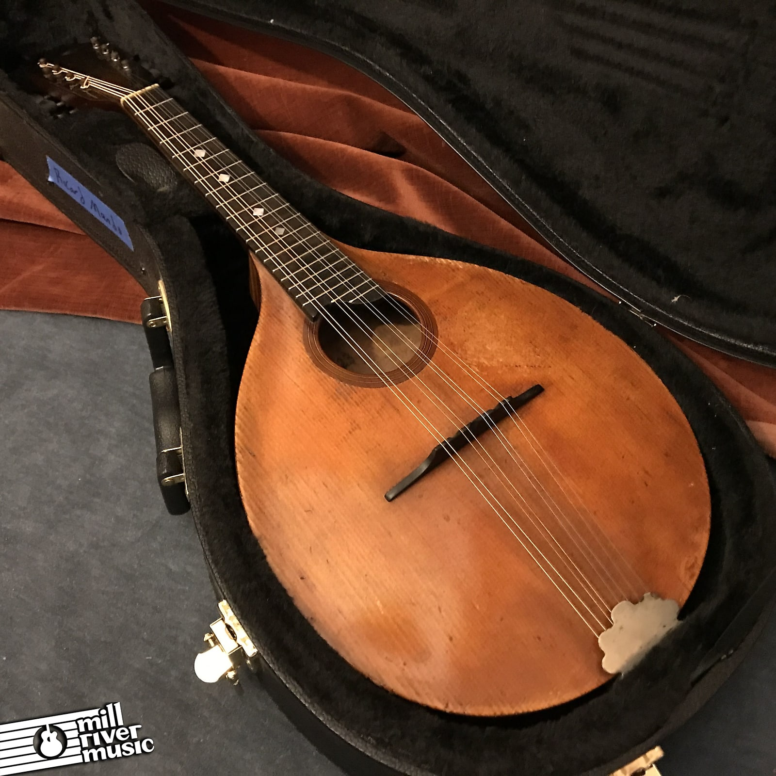 Alexander Ricard Vintage Mandolin Made in Springfield MA c. 1923 w/ Case