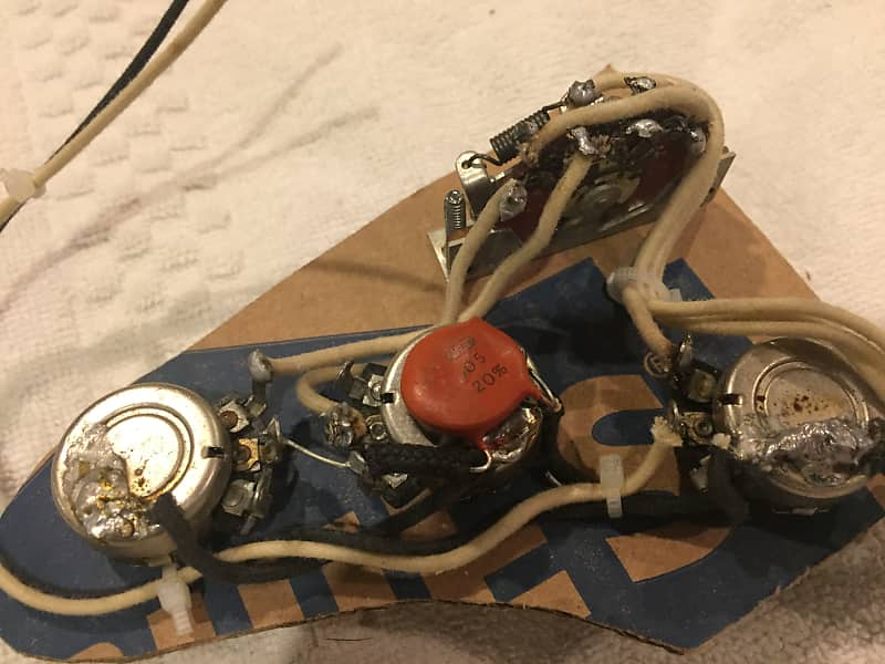 Incredible Vintage Fender 1974 Stratocaster Strat Wiring Harness Set Reverb Wiring Database Ilarigelartorg
