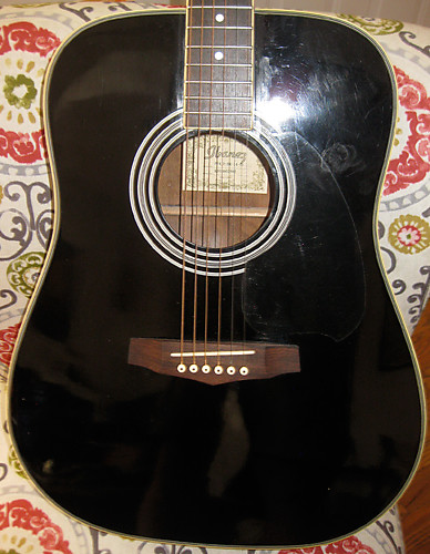 Black Ibanez Pf4 Acoustic Dreadnought Guitar Reverb