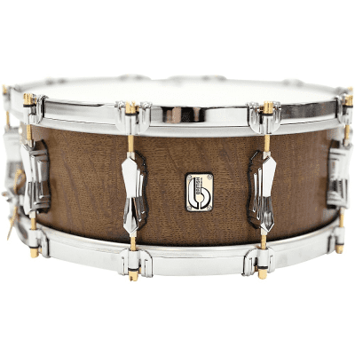 "British Drum Company The Duke 14x5.5"" 10-Lug Bog Oak Snare Drum"