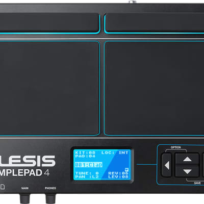Alesis SamplePad 4 4-Pad Sample/Loop Player with 25 built-in sounds, SD card slot and dual trigger input.