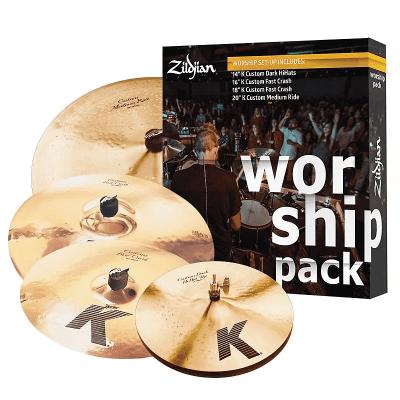 "Zildjian KC0801W K Custom Worship Box Set 14/16/18/20"" Cymbal Pack"