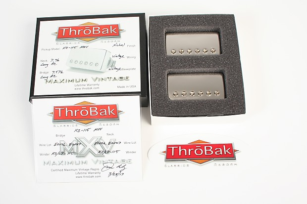 43200d6e9b2 ThroBak KZ-115 MXV Nickel PAF Pickup Set