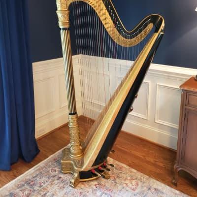 Lyon and Healy Style 17 Ebony Bronze semi-Grand Harp