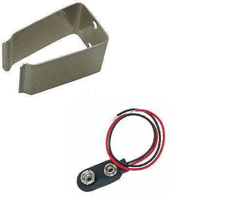9v battery holder clip and wiring harness universal