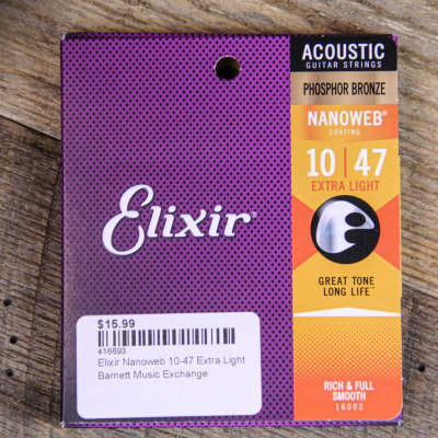 Elixir Nanoweb 10-47 Extra Light Acoustic Strings