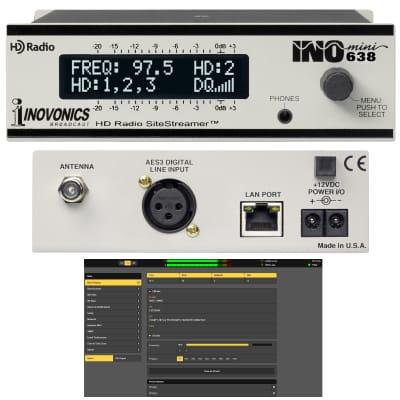 Inovonics 638 INOmini FM/HD SiteStreamer with Web Interface