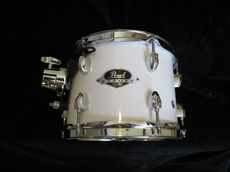 Pearl Export 10 Round X 8 Inch Mounted Tom, Gloss White, ISS Mount - Mint  Never Used!