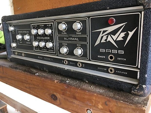 peavey 400 series bass head reverb