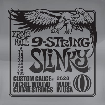 Ernie ball Slinky Nickelwound 9 String Guitar Strings 9-105 for sale