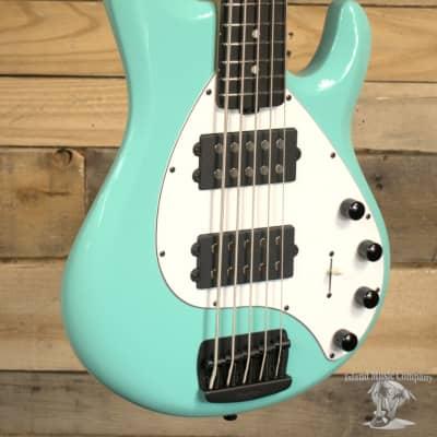 Music Man StingRay 5 Special HH 5-String Bass Cruz Teal w/ Case
