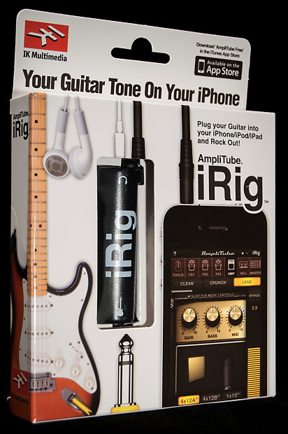 ik multimedia amplitube irig guitar interface for iphone ipad reverb. Black Bedroom Furniture Sets. Home Design Ideas