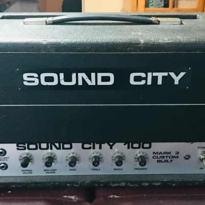 Sound City 100 Mark 3 Custom Built Tube Amp Head  70's for sale