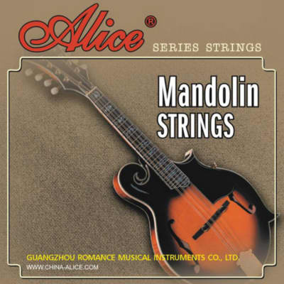 Alice AM04, Single Mandolin Strings, 2 PCs 0.024 + 2 PCs 0.026, Copper Wound,Loop End, Total 4 PCs