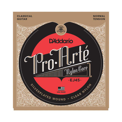 D'Addario EJ45 Silver/Clear Classical Guitar Strings