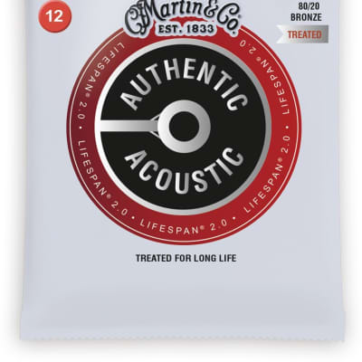 Martin MA140T Authentic Acoustic Lifespan 2.0 Light Strings 12-54