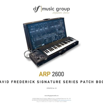 Updated! ARP 2600  df|MG Signature Series 2600 Patch Book