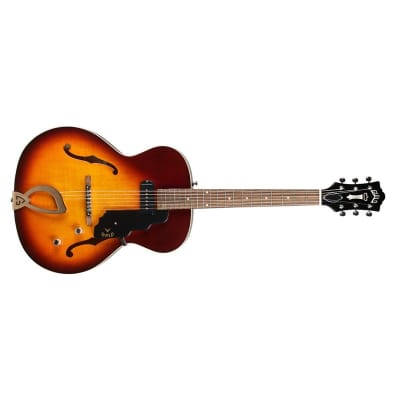 Guild T-50 Slim Newark St Hollow-Body, Vintage Sunburst for sale